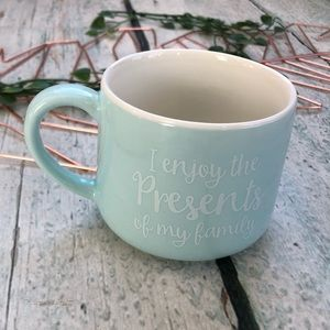Other - Tiffany inspired coffee mug blue presents tea cup